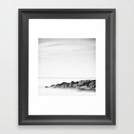 Between a rock Framed Art Print