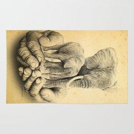 Refuge Elephants Drawing Rug