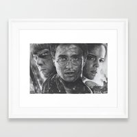 harry potter Framed Art Prints featuring Harry Potter by fabio verolino