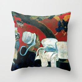 """Paul Gauguin """"La vision après le sermon (Vision After the Sermon)"""" Throw Pillow"""