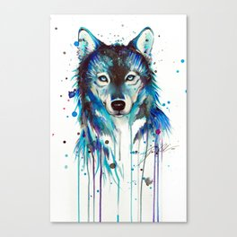 -Dark Wolf- Canvas Print
