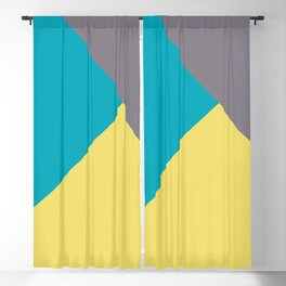 Blue-Green Yellow Gray Abstract Pattern 2021 Color of the Year AI Aqua 098-59-30 Blackout Curtain