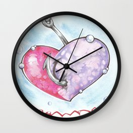 Hook'd Wall Clock