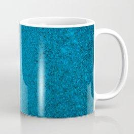 Cerulean Blue Sparkling Jewels Pattern Coffee Mug