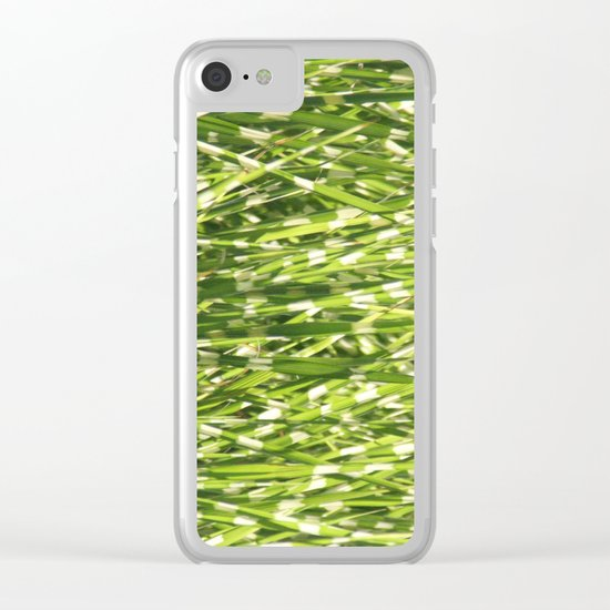 Fresh green Clear iPhone Case
