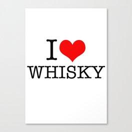 I HEART Whisky Canvas Print