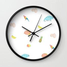Island Friends Wall Clock