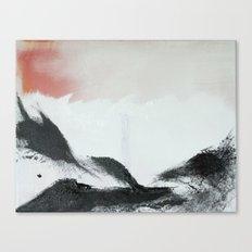 Morning's Snow Canvas Print