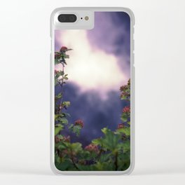 Falls and Flowers Clear iPhone Case