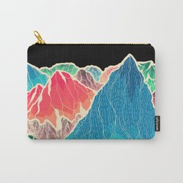The glowing rocks of the mountains Carry-All Pouch