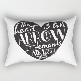 Heart is an Arrow - Six of Crows design Rectangular Pillow