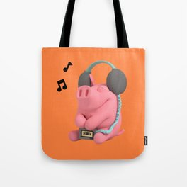 Rosa the Pig Music Tote Bag