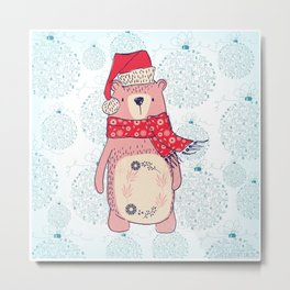 Winter Bear Metal Print