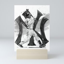 Ⓔⓢⓣⓔ - Society6 - New York - Hall Of Fame - Baseball - Legends - Derek - Sanderson - JEE-tər - 2 - Mini Art Print