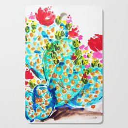Blue Cactis Cutting Board