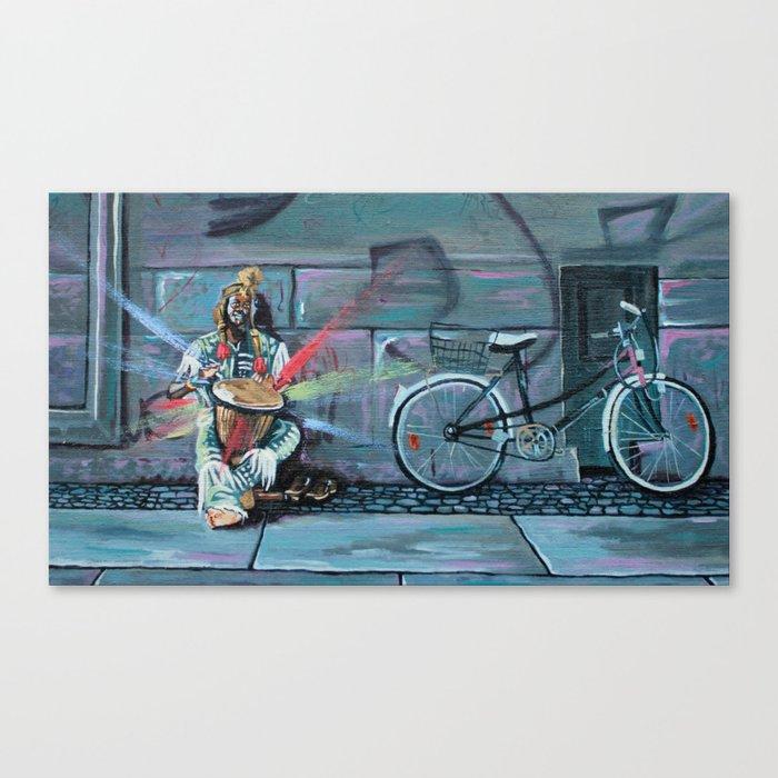 Busker in Berlin Canvas Print