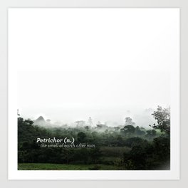 Petrichor (Smell of earth after rain) Art Print