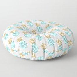Elegant faux gold pineapple pattern Floor Pillow