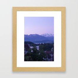 Sunrise in Thun Framed Art Print