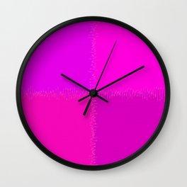 QUARTERS #1 (Purples, Magentas & Fuchsias) Wall Clock