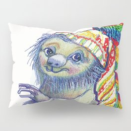 Sloth in a Sock Pillow Sham