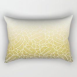 Faded yellow and white swirls doodles Rectangular Pillow