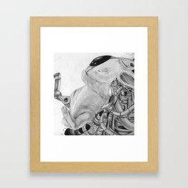Cyborg Bunny Framed Art Print
