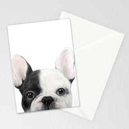 French Bulldog Dog illustration original painting print Stationery Cards