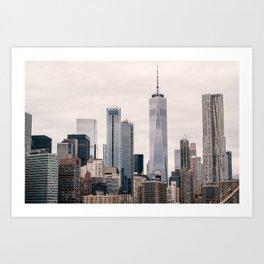 View of Manhattan Buildings Art Print