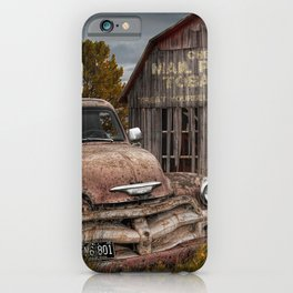 Rusted Pickup Truck with Mail Pouch Tobacco Barn iPhone Case