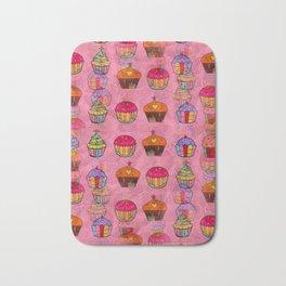 Cupcake Popart by Nico Bielow Bath Mat