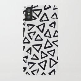 Black Brushstroke Triangel Pattern, Scandinavian Design iPhone Case