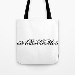 Vowels 001 Tote Bag