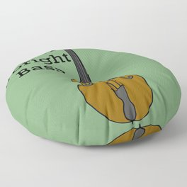 U is for Upright Bass Floor Pillow