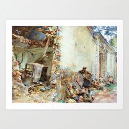 John Singer Sargent - A Street in Arras - Digital Remastered Edition Art Print
