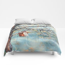 A Chickadees Home Comforters