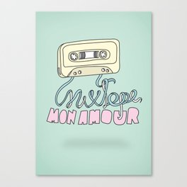 Mixtape mon amour Canvas Print