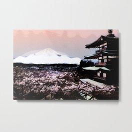 Japanese Landscape  Metal Print