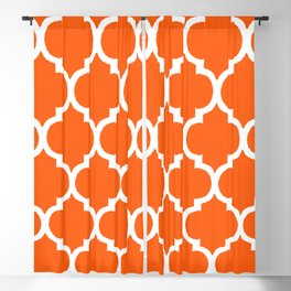 MOROCCAN ORANGE AND WHITE PATTERN 2020 Blackout Curtain