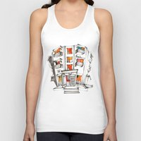building Tank Tops featuring Japanese building by Natsuki Otani