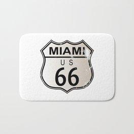 Miami Route 66 Bath Mat