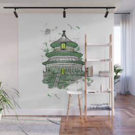 Temple Wall Mural