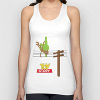 toy story Tank Tops featuring Toy Story - Falling With Style by Gary Wood