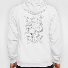 Abstract Jazz Theme Hoody