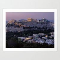 greece Art Prints featuring Greece by ''CVogiatzi.