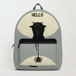 Spider and cat Backpack