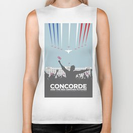 Concorde And The Red Arrows Flyover Biker Tank