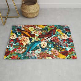 FLORAL AND BIRDS XV Rug