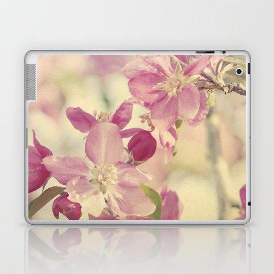 Pink Crabapple Blossom Laptop & iPad Skin
