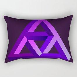 super triangulo Rectangular Pillow